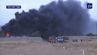 حريق كبير بمصنع دهانات في زيزيا (8-6-2019)