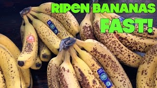 What's The Fastest Wąy To Ripen Bananas?