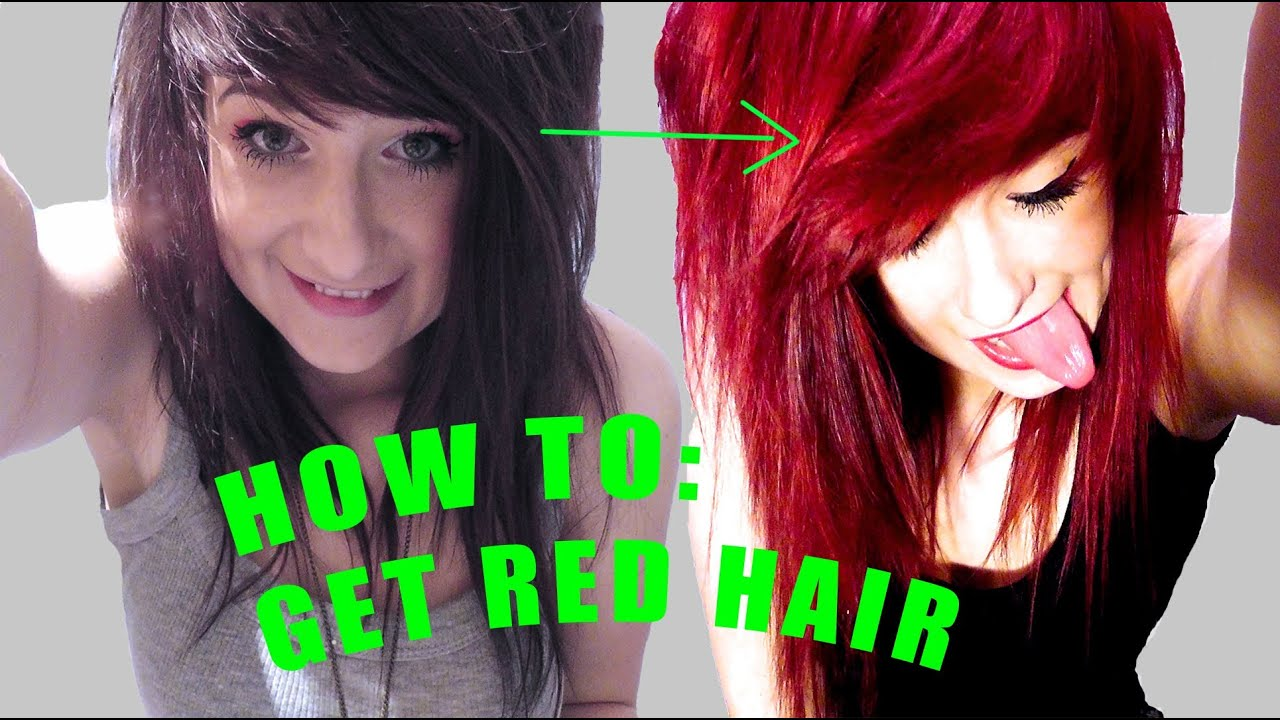From Brown To Hot Red How To Without Bleach Youtube
