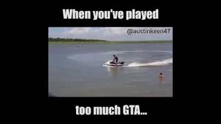 GTA in reaal LIVE.. When you've played too much GTA.