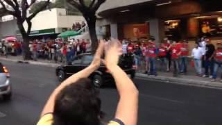 Manifestações visita Lula 2