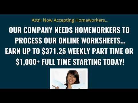 worksheet processor work at home job 2018 how to make money online with google