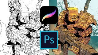 PROCREATE time-lapse - PAINTING with Layer Masks - the POUCH thumbnail