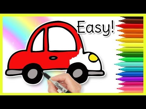 How to Draw a CAR - Easy Kids Drawings
