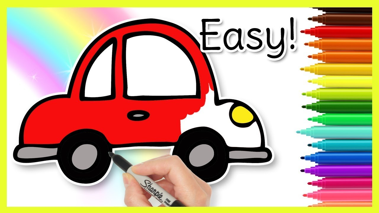 How To Draw A Car Easy Kids Drawings Youtube