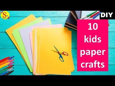 10-easy-kids-craft-ideas-with-paper-|-origami-ideas-|-cool-crafts-for-kids