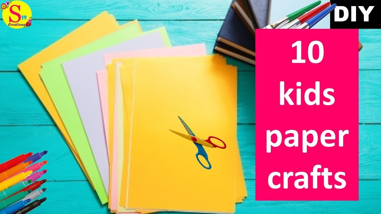 10 Easy Kids Craft Ideas With Paper   Origami ideas   Cool Crafts for Kids
