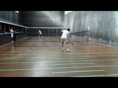 The Final of the Neptune Over 40's Real Tennis British Open 2014