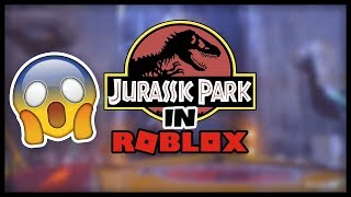 JURASSIC PARK THE RIDE IN ROBLOX!!! 😱