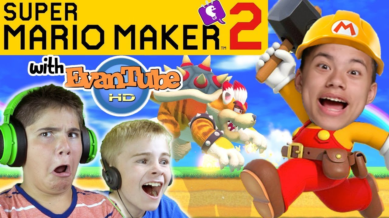 Mario Maker 2 Levels From EvanTubeHD for HobbyKidsTV