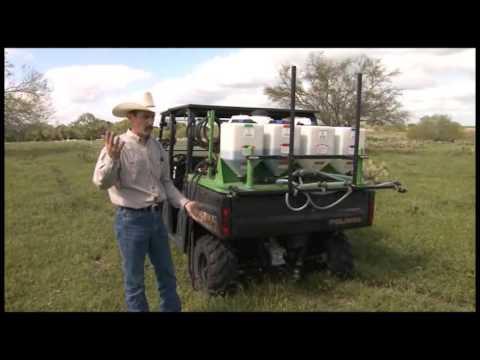 Spraying Weeds With An ATV