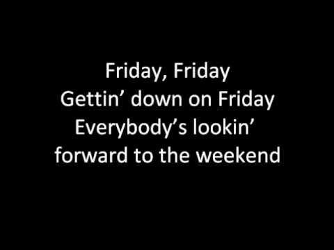 Rebecca Black - Friday (Lyrics)