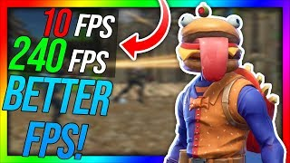 How To Get More FPS in FORTNITE Guide! (Season 10) [2019]