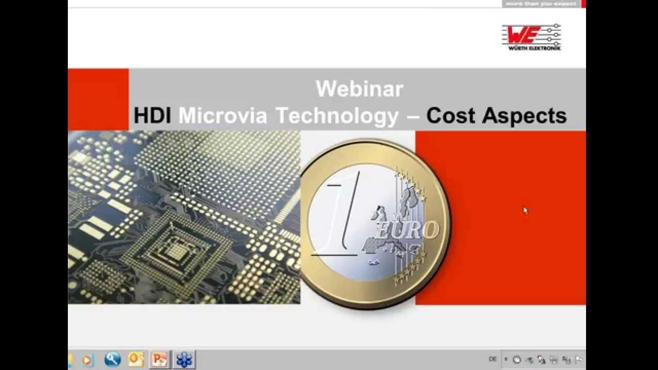 Würth Elektronik Webinar: HDI Microvia Technology - Cost Aspects