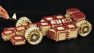 How to Build F1 Car Model from Matchsticks Without Glue