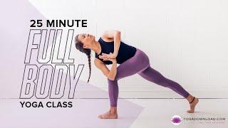 25 Minute Full Body Yoga - FREE Hatha Vinyasa Yoga Class