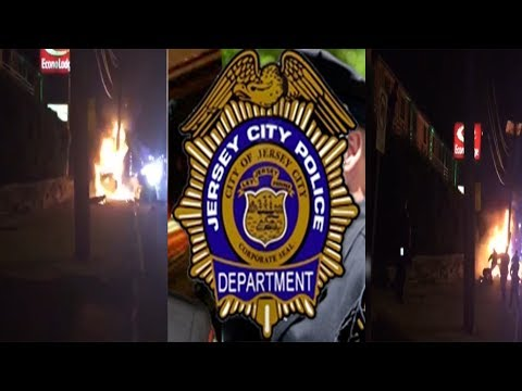 Jersey City Police Attack Innocent Man On Fire