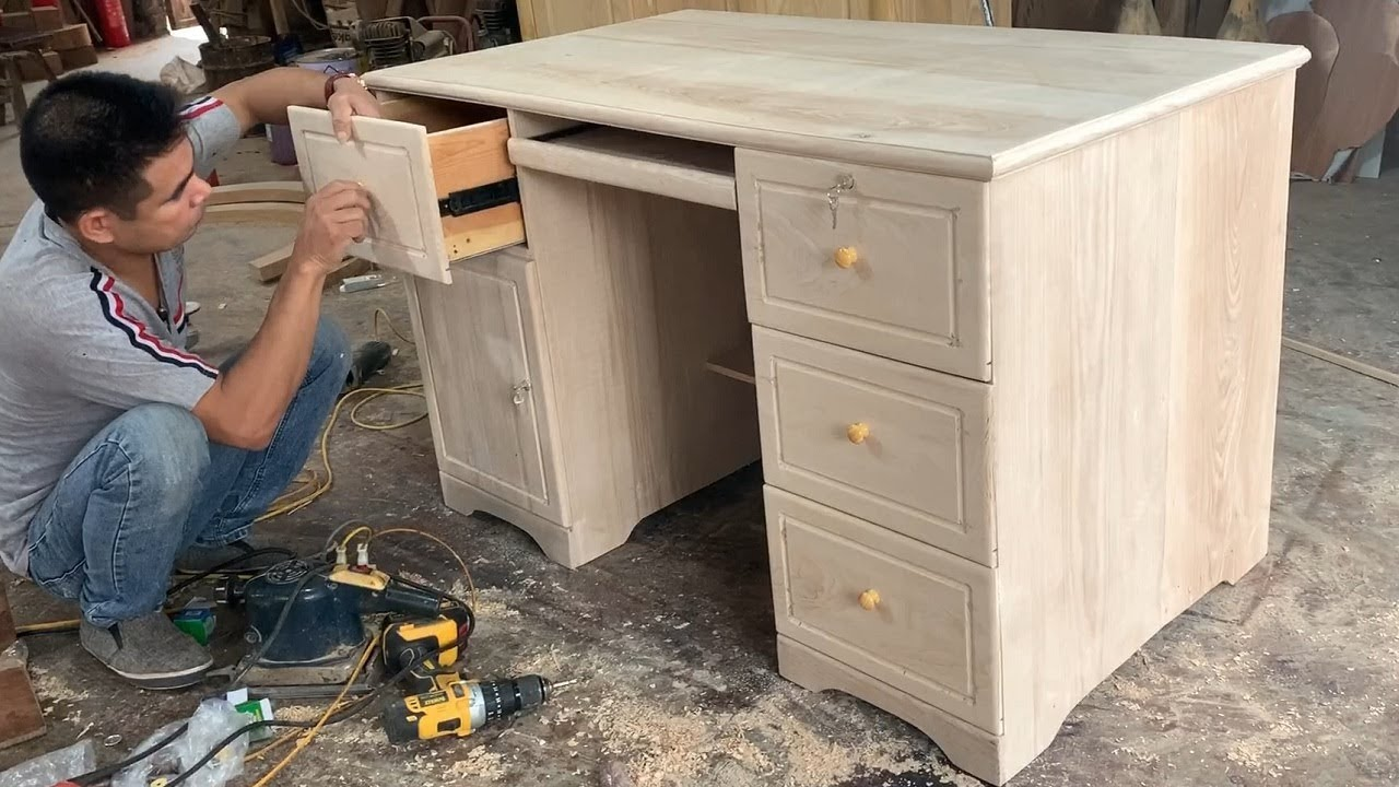 How To Build A Modern Computer Desk Project Information Woodworking Design Ideas Youtube