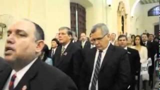 Himno paraguayo con arpas - Te Deum, catedral de Asunción / 14 de mayo del 2011