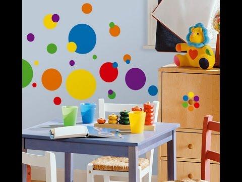 Decorar con circulos la habitacion de los ninos de 20 - Habitaciones pintadas con rayas ...
