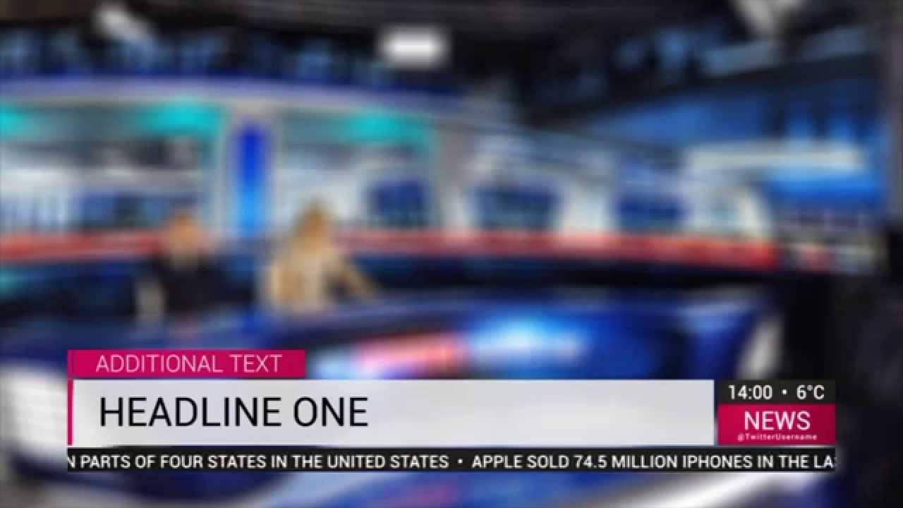 News TV graphics - FULL HD (Free Adobe after effect template ...