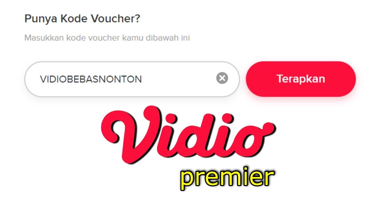 Kode Voucher Vidio Premier Youtube