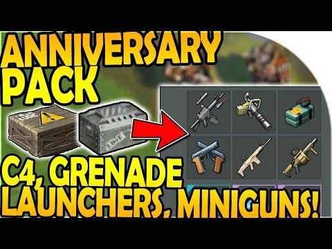 C4, MINIGUNS, GRENADE LAUNCHERS in *NEW* ANNIVERSARY PACK - Last Day On Earth Survival Update 1.8.5