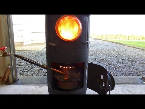 Fantastic diy waste Oil and Wood burning stove heater.