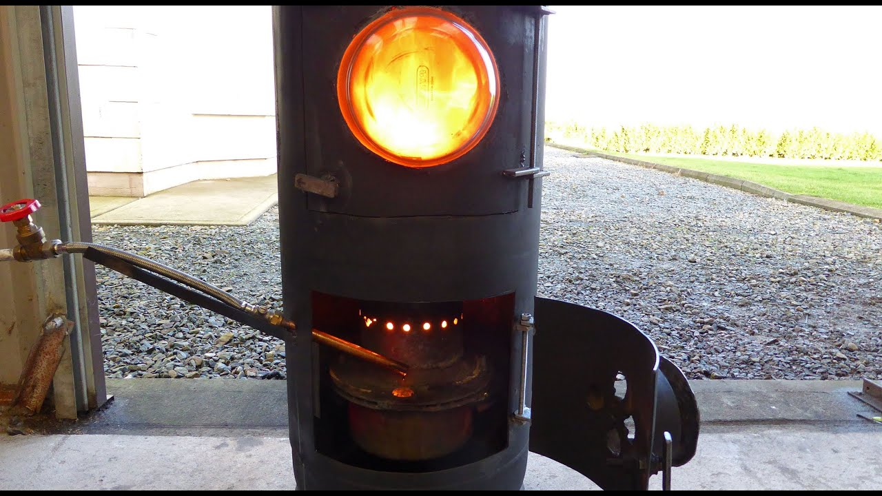 Fantastic diy waste Oil and Wood burning stove heater