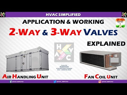 FCU & AHU - Applications of 2-Way and 3-Way Valves (HVAC SYSTEM)