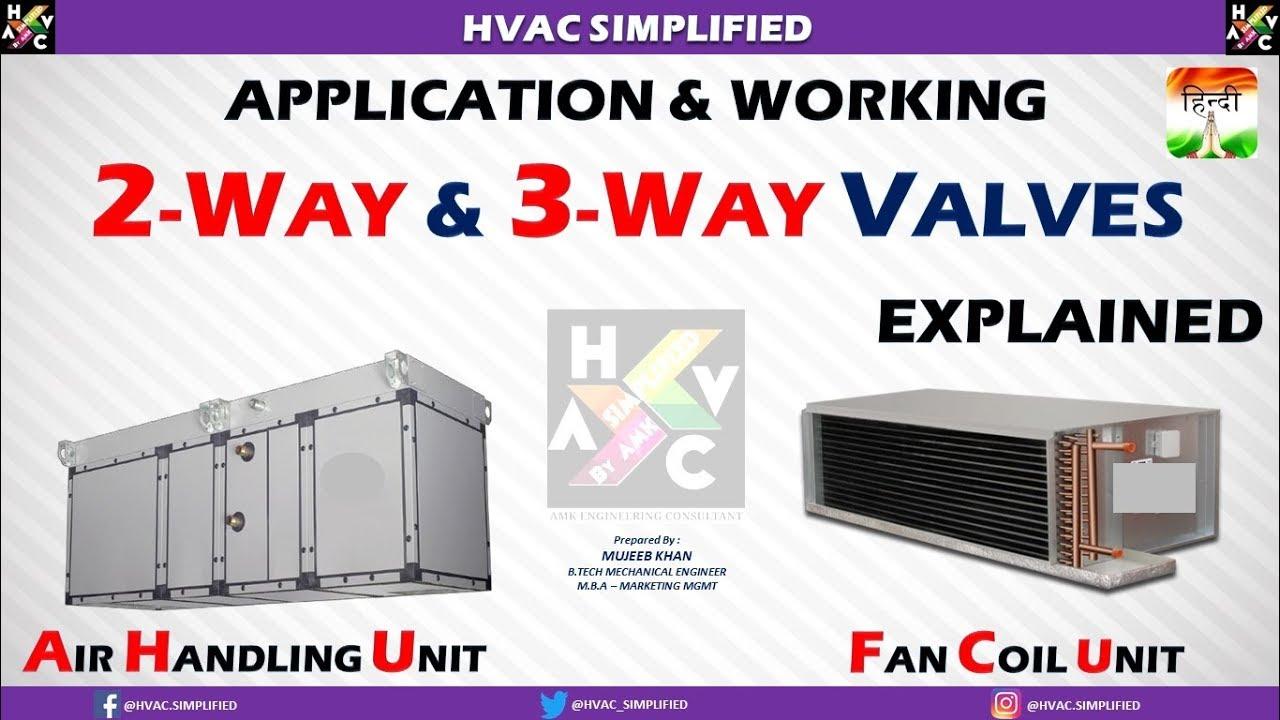 2 Way Vs 3 Valve 1991 Jeep Cherokee Wiring Diagram Fcu Ahu Applications Of And Valves Hvac System