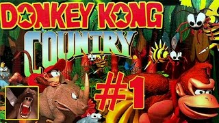 Donkey Kong Country Walkthrough Part 1 - World 1 - Kongo Jungle Gameplay (Wii U)