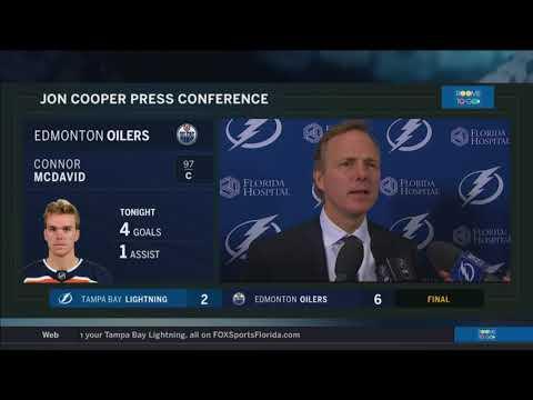 Jon Cooper -- Tampa Bay Lightning at Edmonton Oilers 02/05/2018