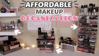 MY AFFORDABLE MAKEUP ORGANIZATION || Lizabeth Moore