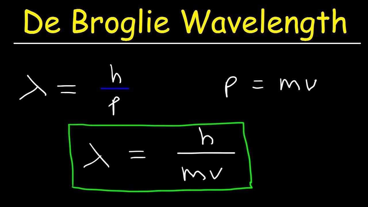 De Broglie Wavelength Problems In Chemistry - YouTube
