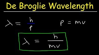 De Broglie Wavelength Problems In Chemistry