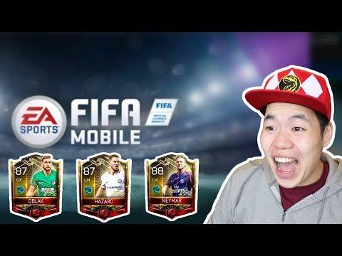Fifa Mobile 18 Now & Later Rewards Opening - Amazing Oblak, Hazard & Neymar