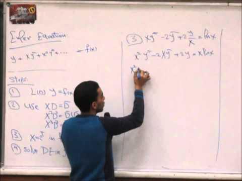 Eng. Hesham Ezz Eldean - ( Operator Method & Simultaneous DE ) - Section