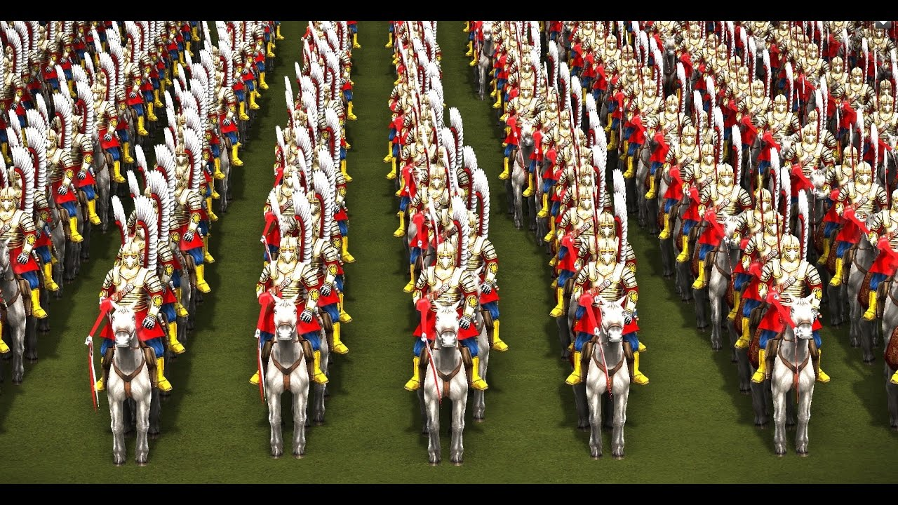 2,000 WINGED HUSSAR vs 2,000 18th OFFICERS! - COSSACKS 3