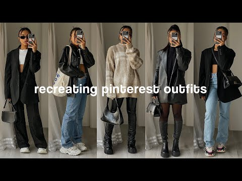 recreating pinterest outfits *winter lookbook*