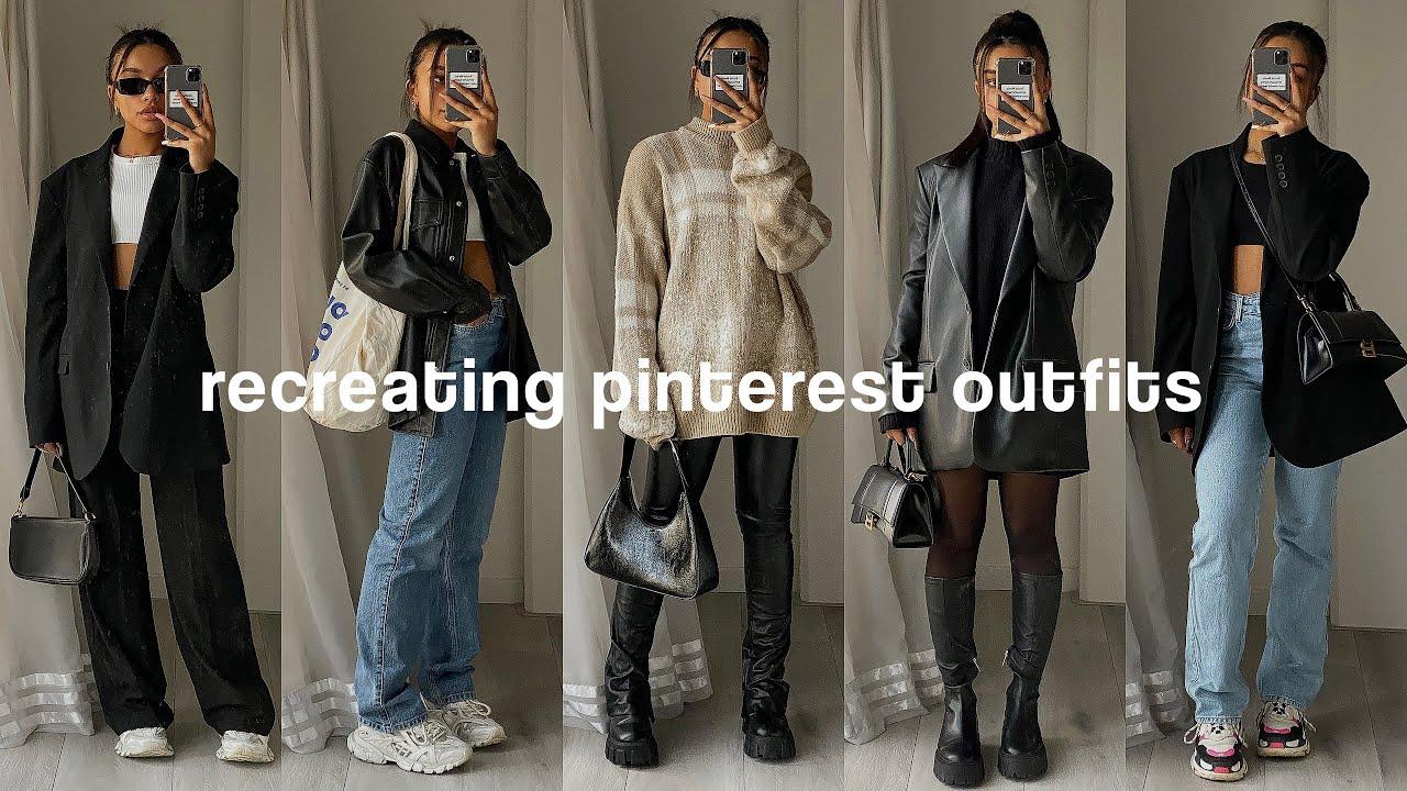 recreating pinterest outfits *winter lookbook*