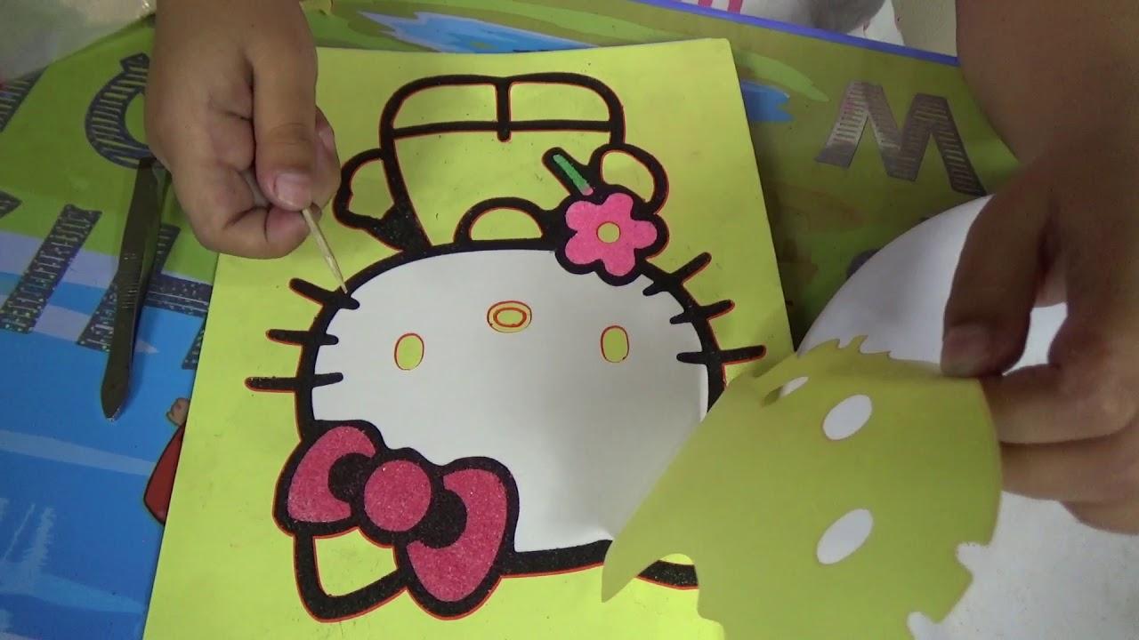 Pasir Warna Hello Kitty Cita Belajar Mewarnai Color Sands Youtube