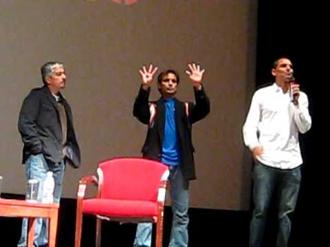 Peter Bratt and cast of La Mission