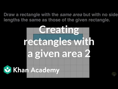 Creating rectangles with a given area 2 | Math | 3rd grade |