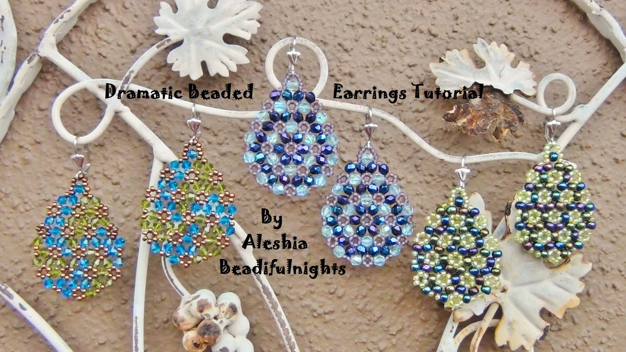 watch earrings youtube tutorial beaded dramatic jewellery