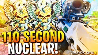 INSANE 110 Second Nuclear WITH THE ABR 223 in Black Ops 4! COD BO4 Most Overpowered ABR Class Setup!