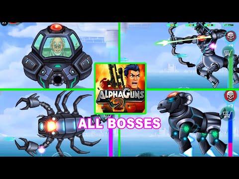 Alpha Gun 2 All Bosses (Mech Tank, Mother Bot, Beetle Bug, Mother Galactica, Proximo Tank ...)