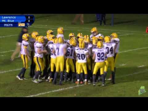 Lawrence Vs. Mt. Blue Football September 29, 2017
