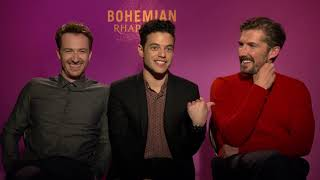 "An Interview with the Cast of ""Bohemian Rhapsody""."