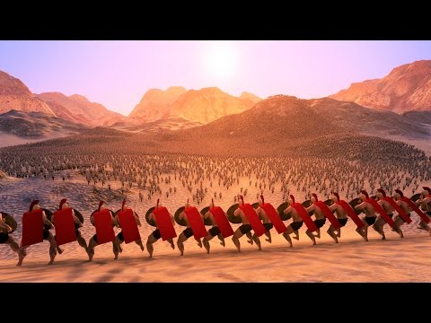 300 Spartans vs 40000 Persians Siege Ultimate Epic Battle Simulator